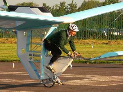 pedal powered plane